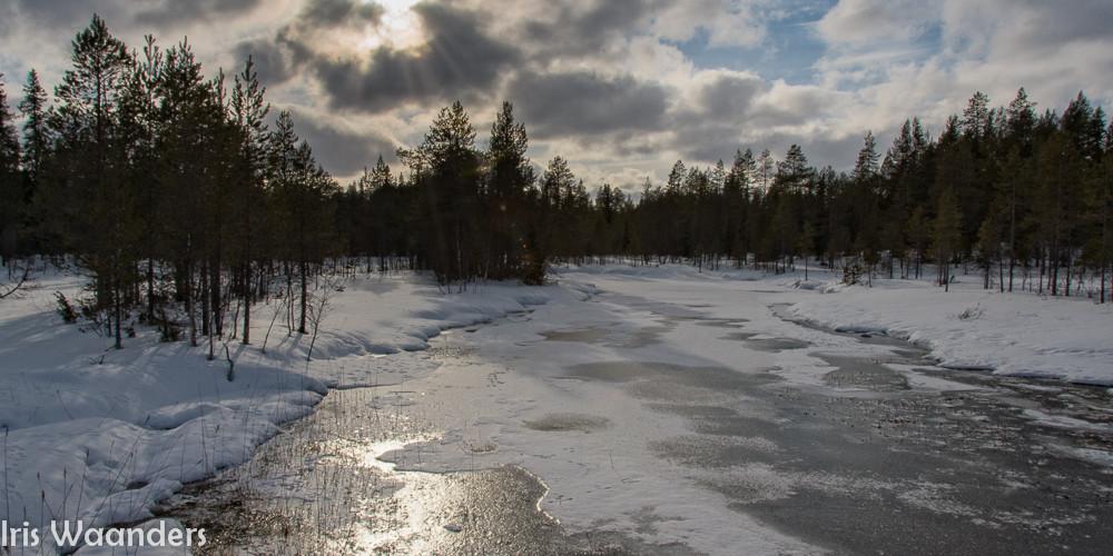 bevroren rivier